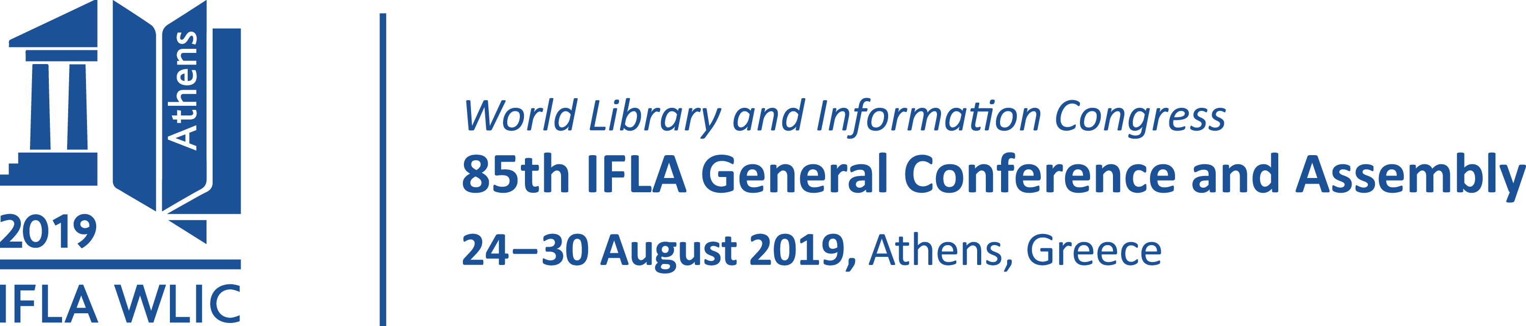IFLA WLIC 2019 | Athenes | Greece | 24 - 30 August 2019