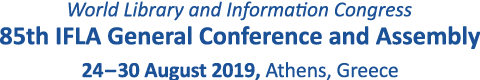 IFLA WLIC 2019 | Athenes | Greece | 24-30 August 2019
